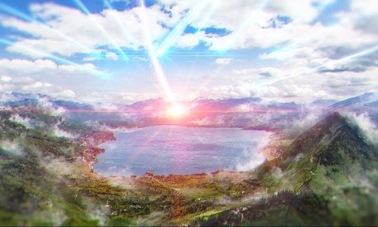 Фото Комета приближается к земле, арт по аниме Твое имя / Your Name / Kimi no Na wa, by Wenlong Zengye