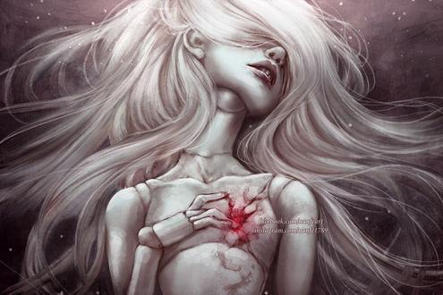Фото Кукла с кровавой раной в груди, by NanFe