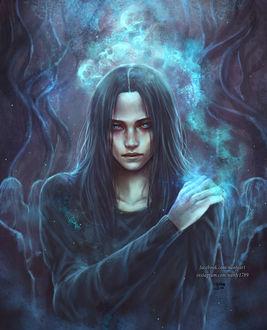 Фото Темноволосый парень в окружении призраков, by NanFe