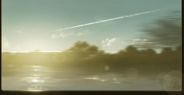 Фото Красивый вид из окна машины