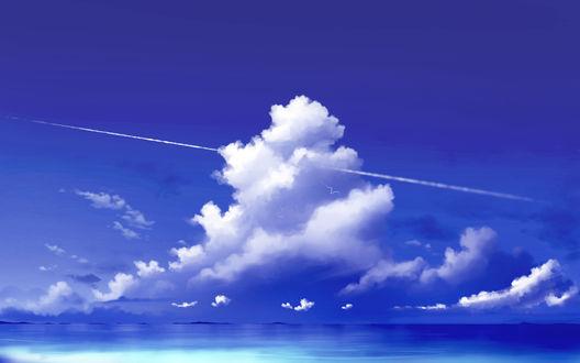 Фото Море под облачным небом