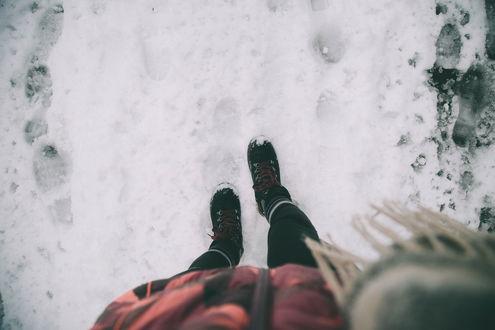 Фото ножки снег (19 фото)