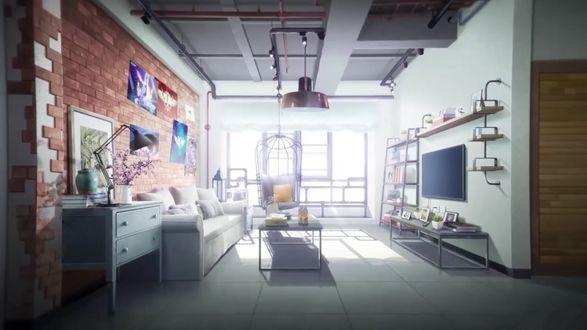 Фото Интерьер гостиной из аниме Аватар короля