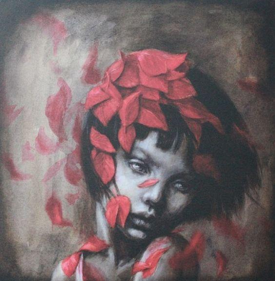 Фото Девушка с листьями на голове, художница Beatriz Martin Vidal
