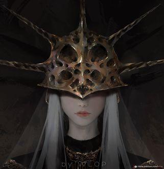 Фото Девушка в железном шлеме, by WLOP
