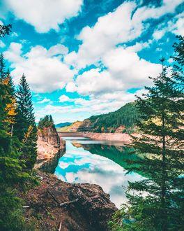 Фото Кугарское водохранилище в Орегоне, Национальный парк Вилламетте, фотограф David