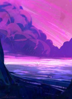 Фото Парусник плывет по морю