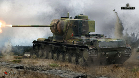 Фото Танк КВ-5 из игры World of Tanks / Мир танков