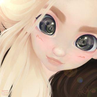 Фото Белокурая девушка с черными глазами, by JoAsLiN