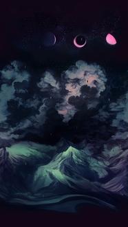 Фото Планеты в ночном небе над горами, by Alexander Dovelin