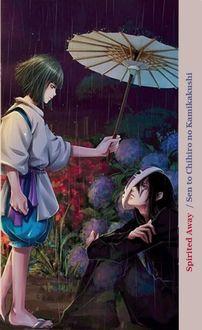Фото Хаку / Haku закрывает зонтом сидящего Kaonashi из аниме Унесенные Призраками / Spirited Away / Sen to Chihiro no kamikakushi