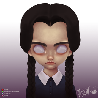 Фото Wednesday Addams / Уэнсди Аддамс из фильма Addams Family / Семейка Аддамс, by JoAsLiN