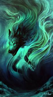Фото Волк-дух северного сияния, by Dark-Sheyn