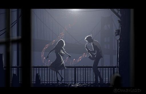 Фото Танцующие влюбленные в ночи, by Omario2d