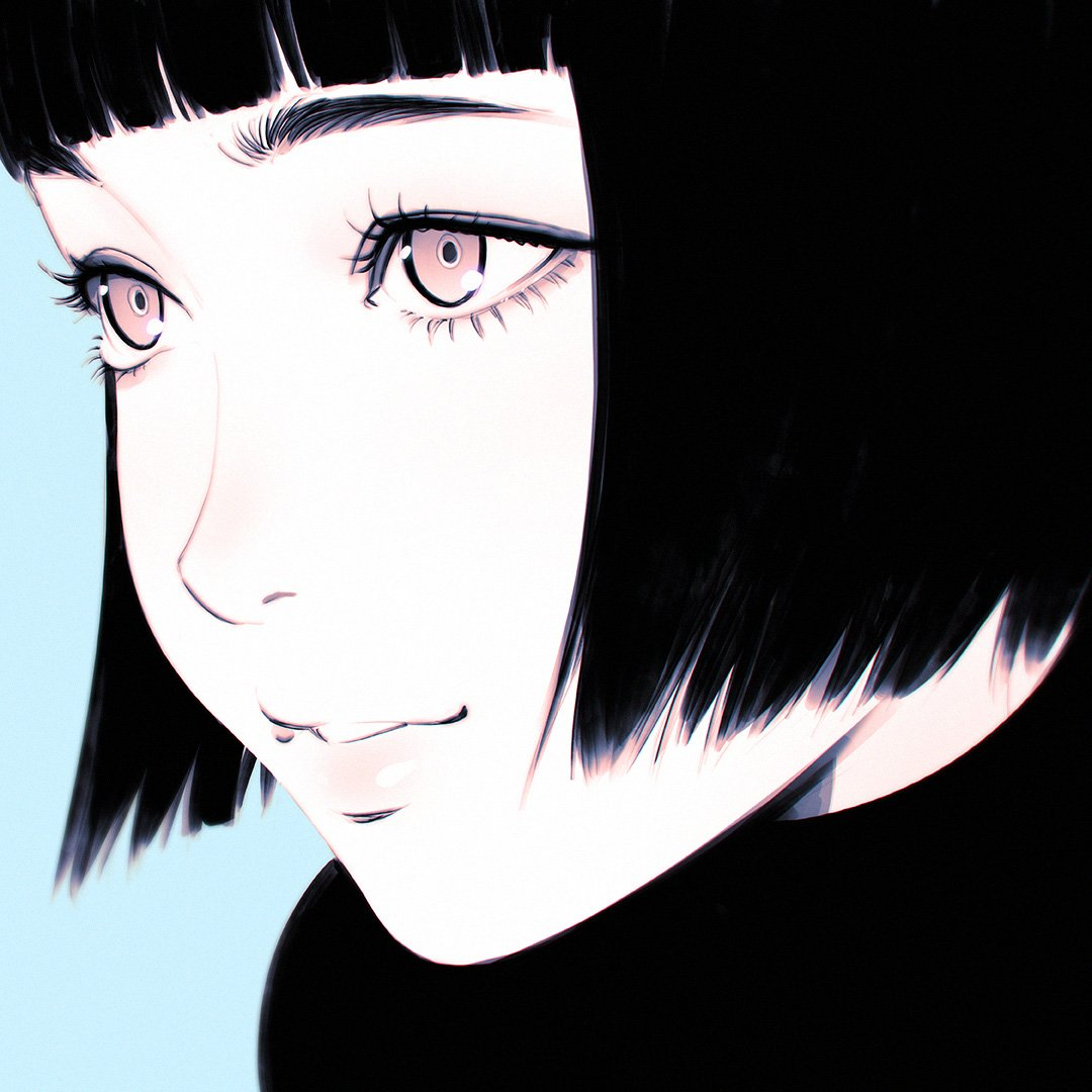 Аниме картинки девушки с короткой челкой