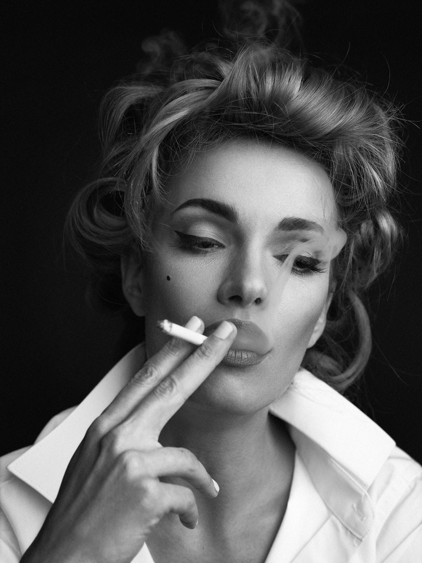 Открытка сделать, девушки с сигаретой красивые картинки
