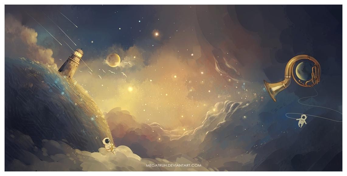 Фото Два космонавта в небе, by megatruh