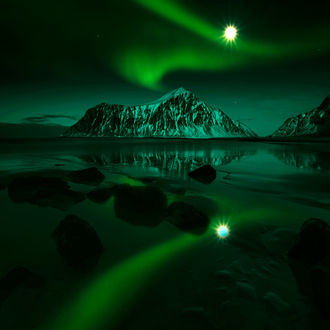 Фото Лунная ночь на Лофотенских островах, фотограф Adnan Bubalo