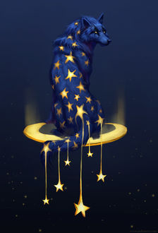 Фото Волк со звездами, by JadeMere