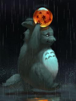 Фото Кролик с шаром над головой, by JadeMere