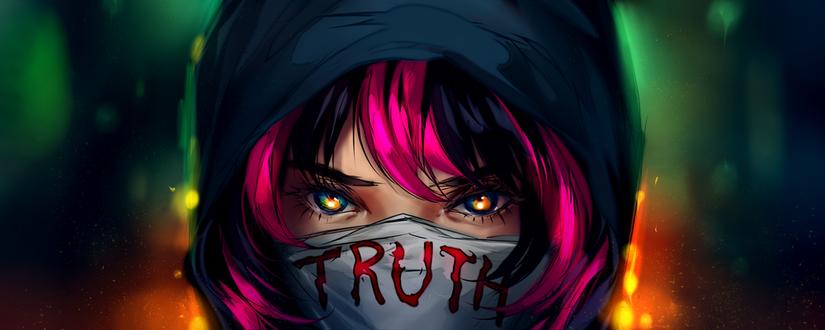 Фото Парень в маске с надписью (truth / правда), by yuumei