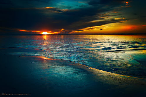 Фото Закат солнца на море. Фотограф Oer-Wout