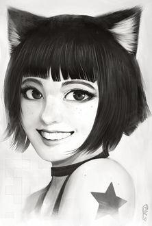 Фото Неко-девушка улыбается, by RandyStarFru1t