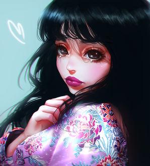 Фото Темноволосая девушка со слезами на глазах, by mollyillusion