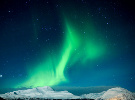 Фото Полярное северное сияние в небе, by Ferdinand Bart Alst