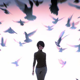 Фото Девушка в окружении голубей, by Kuvshinov Ilya