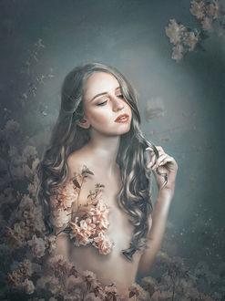 Фото Девушка в цветах, by Lotta-Lotos