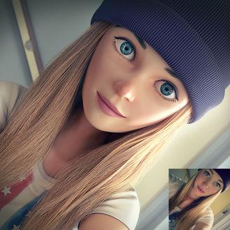 Фото Девушка в вязанной шапке, by Ssendm