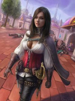 Фото Ienera-разбойница, арт к игре World of Warcraft / Мир военного ремесла, by Jorsch