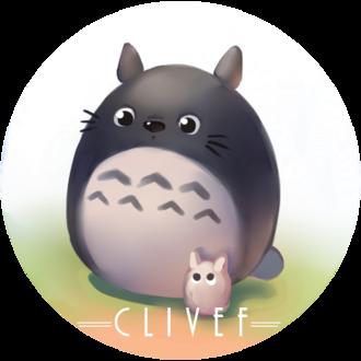 Фото Totoro / Тоторо с маленьким из аниме Tonari no Totoro / Мой сосед Тоторо, by christon-clivef