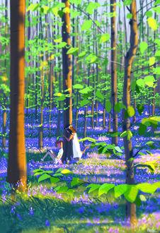 Фото Влюбленные в весеннем лесу, by PascalCampion