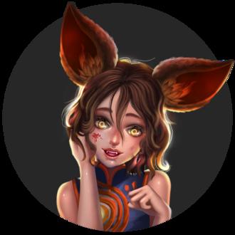 Фото Девочка-лисичка с окровавленным лицом, by ochunk