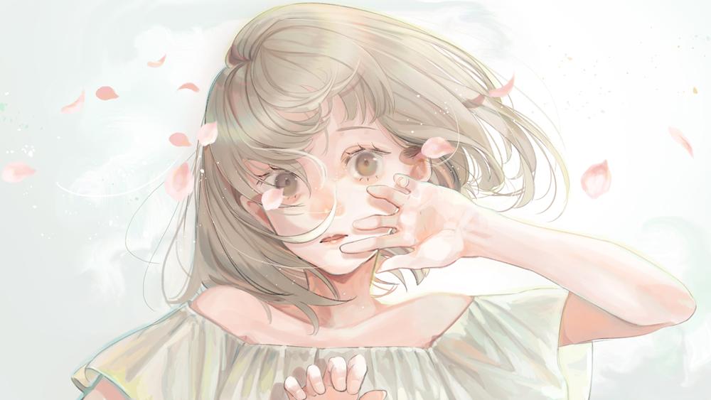 Фото Девушка с рукой у лица, by mizumizutorisan