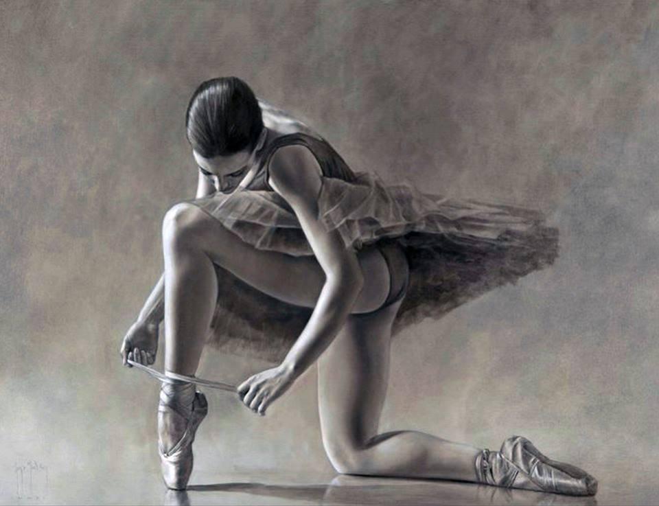 Фото Балерина поставила одну ножку на пальчики, художник Sergio Martinez Cifuentes