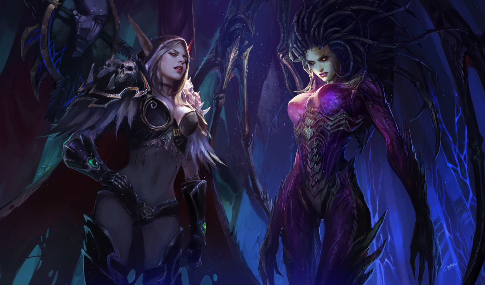 Обои starcraft, queen of blades, Королева Клинков, сара керриган. Игры foto 18