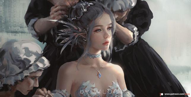 Фото Слуги наряжают принцессу Aeolian, by wlop