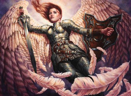 Фото Ангел-воительница в небе, by Michael-C-Hayes