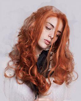 Фото Девушка с длинными волосами, by Sonia Neisha