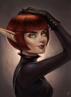Фото Рыжеволосая кровавая эльфийка / арт на игру World of Warcraft, by JuneJenssen