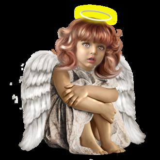 Фото Красивая милая девочка-ангел