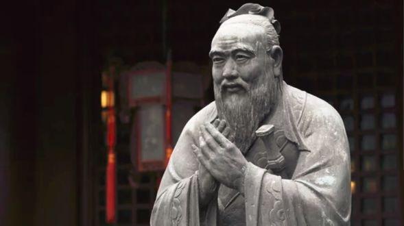Фото Статуя Конфуция возле храма, China / Китай
