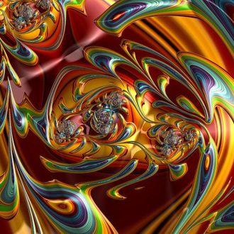 Фото Яркая цветная абстракция