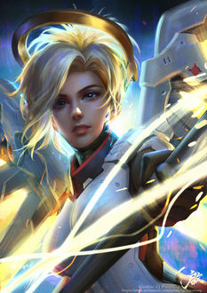 Фото Персонаж Mercy / Ангел из игры Overwatch / Дозор, by Qichao Wang