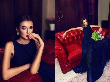 Фото Девушка в черном платье, фотограф Patrycja Wieczorek