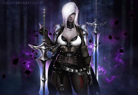 Фото Девушка темный рыцарь из игры Black Desert, by eollynart