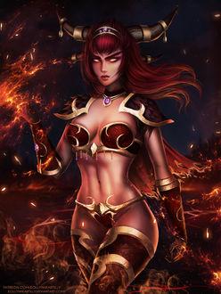 Фото Alexstrasza the Life-Binder / Алекстраза Хранительница Жизни - персонаж игры World of Warcraft, by eollynart